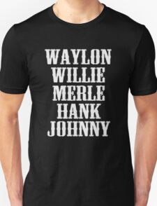 best Waylon Jennings Willie Nelson Merle Haggard Hank Williams Johnny Cash T-Shirt