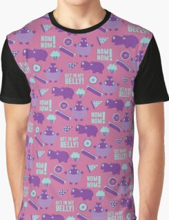 Hungry Hippo Pattern by Holly Shropshire Graphic T-Shirt