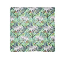 Little Elephant on a Jungle Adventure – faded vintage version Scarf