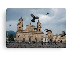 Bogota Colombia The neo-classical Cathedral on Plaza de Bolivar. Canvas Print