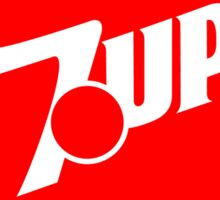 7up in the 80s Sticker