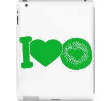 i love darling eat kiwi fruit tasty iPad Case/Skin