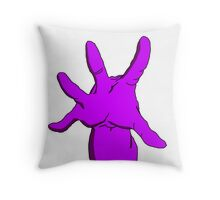 Purple Hand Throw Pillow