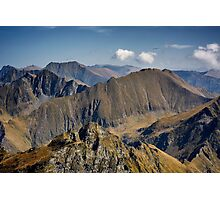 Aerial view of mountain ranges Photographic Print