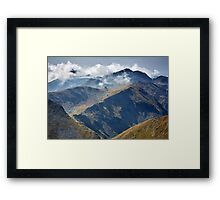 High mountains Framed Print