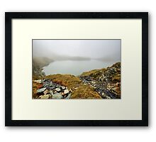 Glacial lake in the mountains Framed Print