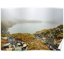 Glacial lake in the mountains Poster