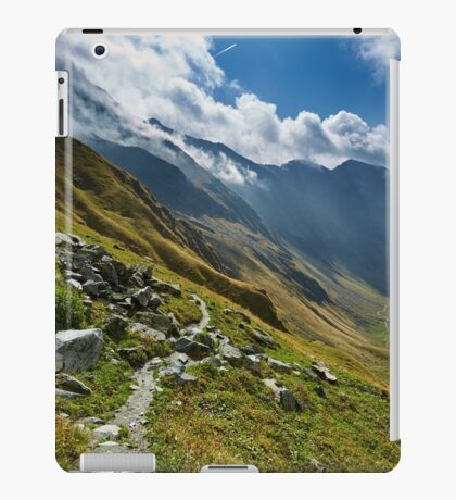 Hiking trail in the mountains iPad Case/Skin