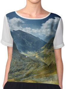 Mountain range landscape Chiffon Top