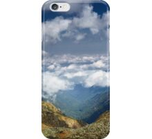 Mountains landscape with clouds iPhone Case/Skin