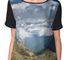 Mountains landscape with clouds Chiffon Top