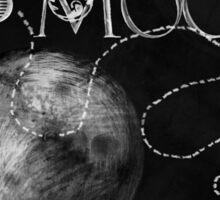 Sweet Luna Love chalkboard typography chalkboard art Sticker