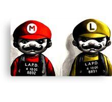 Gangsta Mario&Luigi  Canvas Print