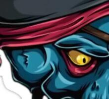 Pirate Skull Blue Sticker