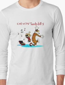 Calvin And Hobbes Dancing Long Sleeve T-Shirt