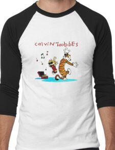 Calvin And Hobbes Dancing Men's Baseball ¾ T-Shirt