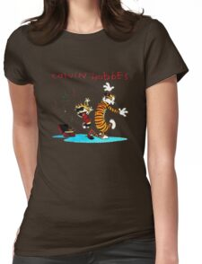 Calvin And Hobbes Dancing Womens Fitted T-Shirt