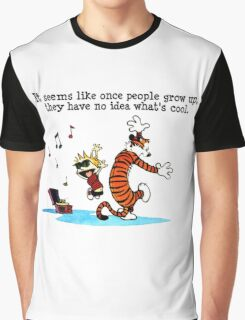 Calvin And Hobbes Dance Graphic T-Shirt
