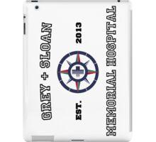 Grey + Sloan White iPad Case/Skin