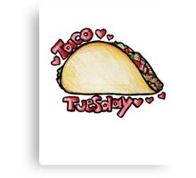 Taco Tuesday Canvas Print