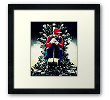 Super Mario's game of thrones Framed Print