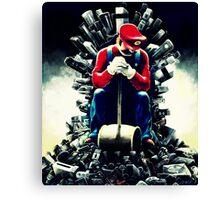 Super Mario's game of thrones Canvas Print