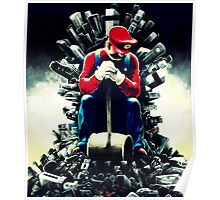 Super Mario's game of thrones Poster