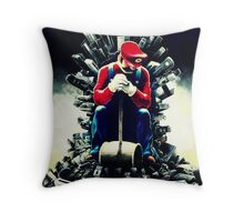 Super Mario's game of thrones Throw Pillow