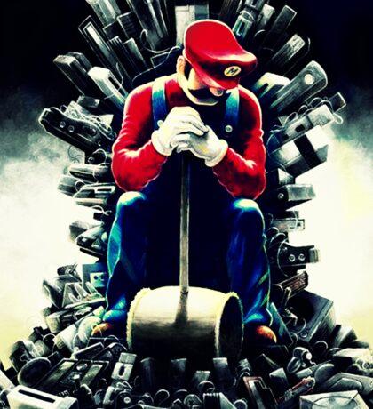 Super Mario's game of thrones Sticker