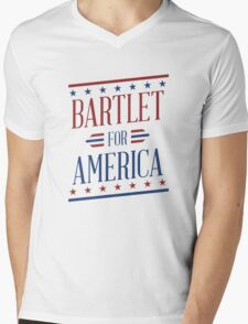 Bartlet for america Mens V-Neck T-Shirt