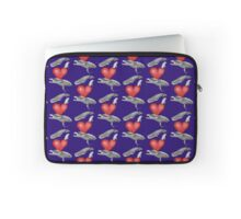 Loving marine mammals - version red Laptop Sleeve