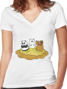 BearZone Women's Fitted V-Neck T-Shirt