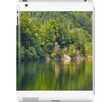 Lake and pine trees iPad Case/Skin