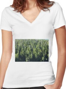 Crowded Trees Women's Fitted V-Neck T-Shirt