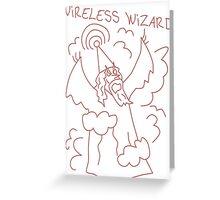 Wireless Wizard Greeting Card