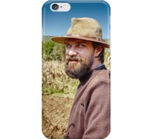 Young farmer closeup portrait outdoor iPhone Case/Skin