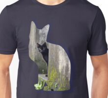 Shaped-Black Kitten Explorer Unisex T-Shirt