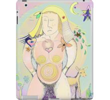 Earth Mother Abstract Drawing - Symbolism - Natural Art iPad Case/Skin