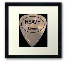 Rock & Roll Guitar Pick - Heavy Framed Print