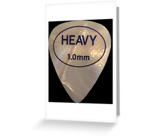 Rock & Roll Guitar Pick - Heavy Greeting Card