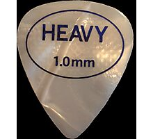 Rock & Roll Guitar Pick - Heavy Photographic Print