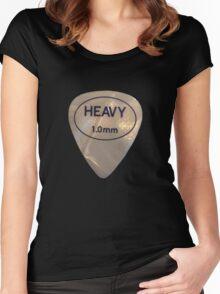 Rock & Roll Guitar Pick - Heavy Women's Fitted Scoop T-Shirt
