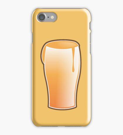 Beer drink glass iPhone Case/Skin