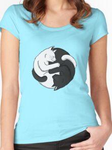 Yin Yang Cats Women's Fitted Scoop T-Shirt