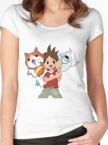 Yokai Watch : Anime 1 Women's Fitted Scoop T-Shirt