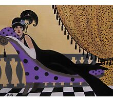 Lady on a lounge Photographic Print
