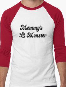 Mommy's Lil Monster Men's Baseball ¾ T-Shirt