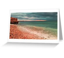 sea waves lapping on shore Greeting Card
