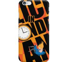 Alice in Wonderland Title with playing cards, pocket watch, hat, key,magic mushrooms iPhone Case/Skin
