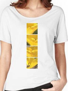 Macro Yellow Tulip Petals Collage Women's Relaxed Fit T-Shirt